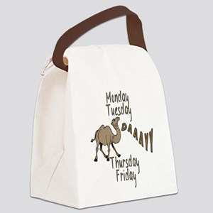 Hump Day Camel Weekdays Canvas Lunch Bag