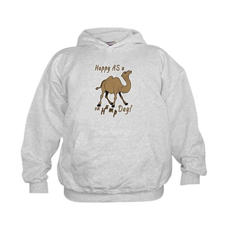 Happy AS A a Camel on Hump Day Kids Hoodie