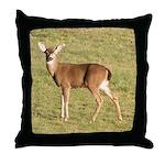 Forked Horn Buck Throw Pillow
