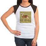 Forked Horn Buck Women's Cap Sleeve T-Shirt