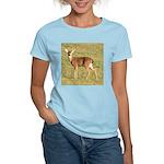 Forked Horn Buck Women's Pink T-Shirt
