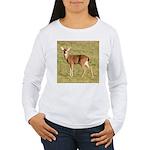 Forked Horn Buck Women's Long Sleeve T-Shirt