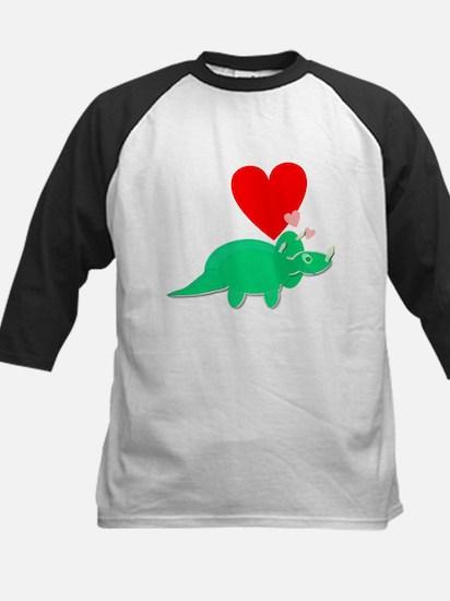 Green Triceratops Cute Cartoon Dinosaur Love Heart