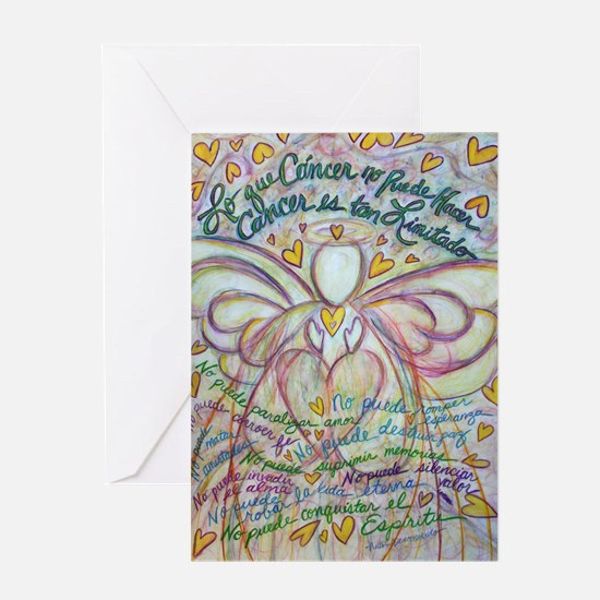 Spanish What Cancer Cannot Do Angel Greeting Card