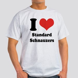 I Heart Standard Schnauzers Light T-Shirt