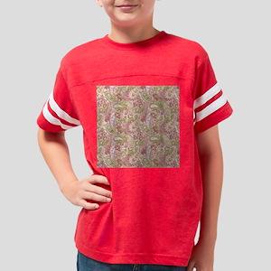 Baby Pink Paisley Watercolor  Youth Football Shirt