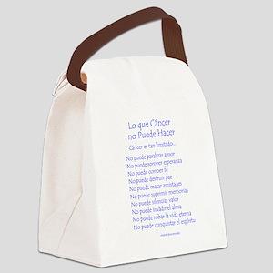 Lo que cáncer no puede hacer Canvas Lunch Bag
