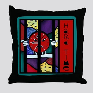Hard Time Multicolored Throw Pillow