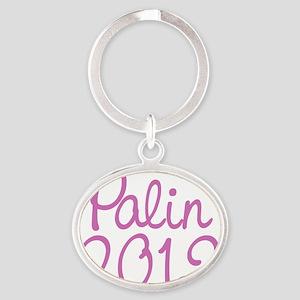 Palin 2012 Oval Keychain