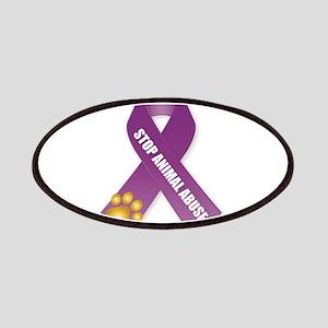 Stop Animal Abuse Ribbon Patch