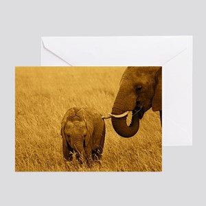 African Elephant & Baby Greeting Cards (Pk of 10)