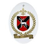 BLANCHETTE Family Crest Oval Ornament