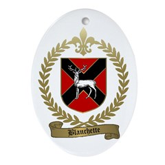 BLANCHETTE Family Crest Oval Ornament