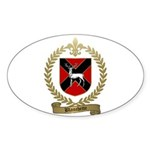 BLANCHETTE Family Crest Oval Sticker