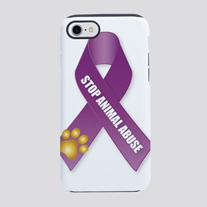 Stop Animal Abuse Ribbon iPhone 7 Tough Case