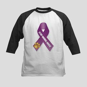 Stop Animal Abuse Ribbon Baseball Jersey