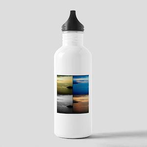 Quadriptych seascape Water Bottle