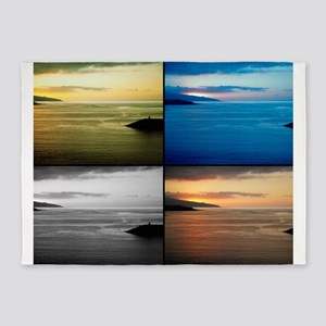 Quadriptych seascape 5'x7'Area Rug