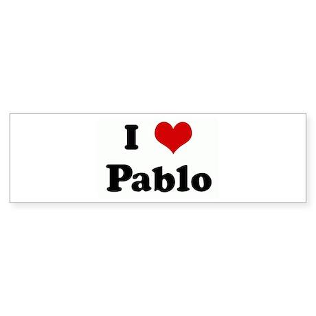 I Love Pablo Bumper Sticker