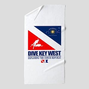 Dive Key West Beach Towel