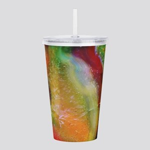 Colorful abstract swir Acrylic Double-wall Tumbler