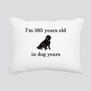 55 birthday dog years lab Rectangular Canvas Pillo