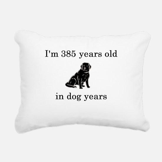 55 birthday dog years lab Rectangular Canvas Pillo