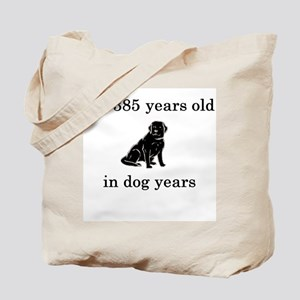 55 birthday dog years lab Tote Bag