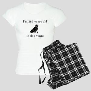 55 birthday dog years lab Pajamas