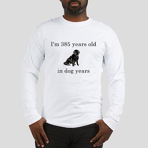 55 birthday dog years lab Long Sleeve T-Shirt