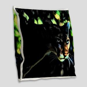 Florida Panther Burlap Throw Pillow