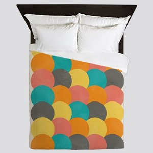 Bright Decaying Scales Queen Duvet