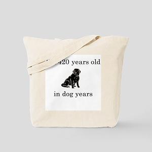 60 birthday dog years lab Tote Bag