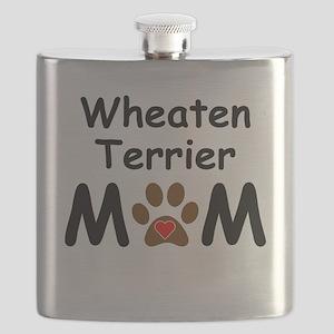 Wheaten Terrier Mom Flask