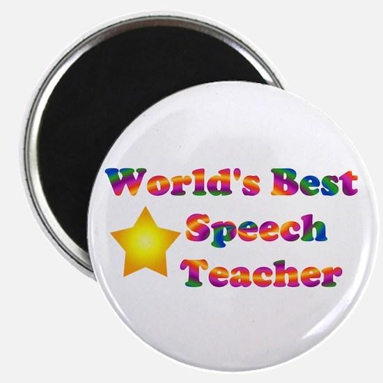 World's Best Speech Teacher Magnet