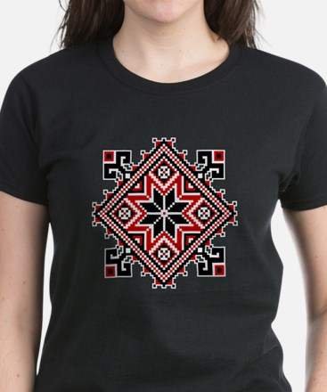 Folk Design 7 Women's Dark T-Shirt