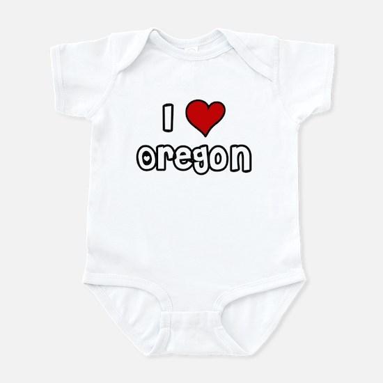 I Love Oregon Infant Bodysuit