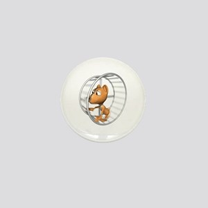 Hamster in Wheel Mini Button
