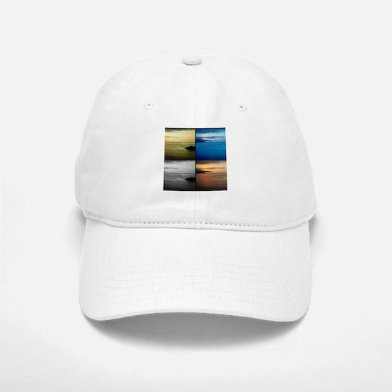Quadriptych seascape Baseball Cap