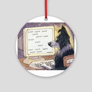 Border Collie dog writer Ornament (Round)