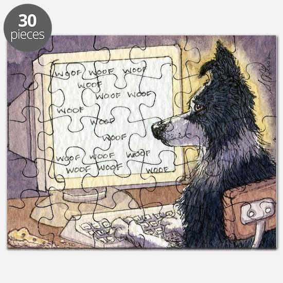 Border Collie dog writer Puzzle