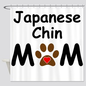 Japanese Chin Mom Shower Curtain