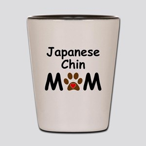 Japanese Chin Mom Shot Glass