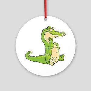Thinking Crocodile Ornament (Round)
