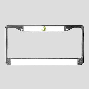 Thinking Crocodile License Plate Frame