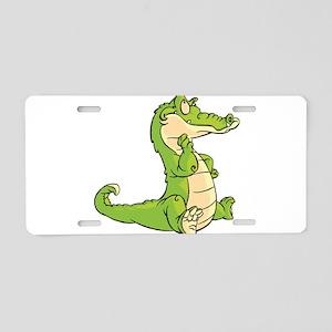 Thinking Crocodile Aluminum License Plate