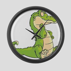 Thinking Crocodile Large Wall Clock