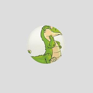 Thinking Crocodile Mini Button