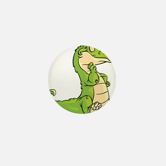 Thinking Crocodile Mini Button