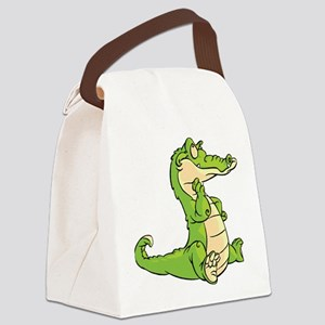 Thinking Crocodile Canvas Lunch Bag